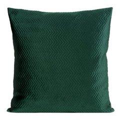 Poszewka dekoracyjna na poduszkę 45 x 45 kolor c.zielony - 45 X 45 cm - ciemnozielony 1
