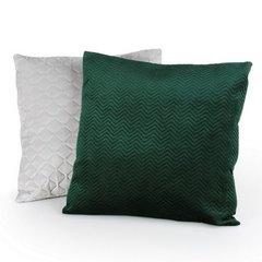 Poszewka dekoracyjna na poduszkę 45 x 45 kolor c.zielony - 45 X 45 cm - ciemnozielony 2