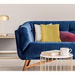 Poszewka dekoracyjna na poduszkę 45 x 45 kolor c.turkusowy - 45 X 45 cm - ciemnoturkusowy 5