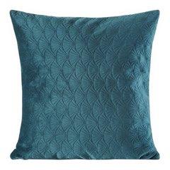 Poszewka dekoracyjna na poduszkę 45 x 45 kolor c.turkusowy - 45 X 45 cm - c.turkusowy 1