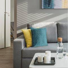 Poszewka dekoracyjna na poduszkę 45 x 45 kolor c.turkusowy - 45 X 45 cm - turkusowy 3