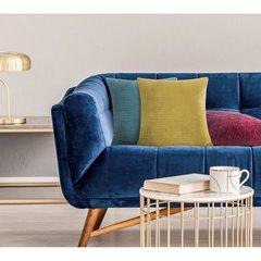 Poszewka dekoracyjna na poduszkę 45 x 45 kolor c.turkusowy - 45 X 45 cm - turkusowy 5