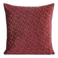 Poszewka dekoracyjna na poduszkę 45 x 45 kolor bordowy - 45 X 45 cm - bordowy 4