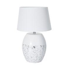 BLAZE BIAŁA LAMPA STOŁOWA  CERAMICZNA  Z MATOWYM ABAŻUREM 18x18x41 cm - 18 X 18 X 41 cm - biały 1