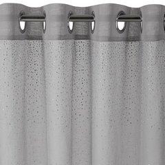 Firana srebrna zwiewna 140 x 250 cm na przelotkach  - 140x250 - srebrny 4