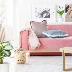 Poszewka na poduszkę 45 x 45 cm różowa z futerkowym obszyciem  - 45x45 - pudrowy 3