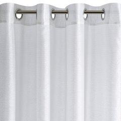 Zasłona biało srebrna na przelotkach 140 x 250 cm  - 140 X 250 cm - biały 6