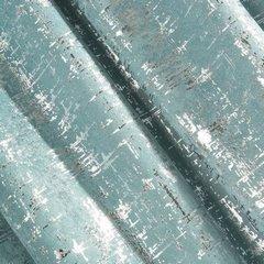 Miętowa ZASŁONA ZACIEMNIAJĄCA ESIN velvet srebrny nadruk 140x270 cm  - 135 X 270 cm - miętowy 3