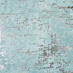 Miętowa ZASŁONA ZACIEMNIAJĄCA ESIN velvet srebrny nadruk 140x270 cm  - 135 X 270 cm - miętowy 4