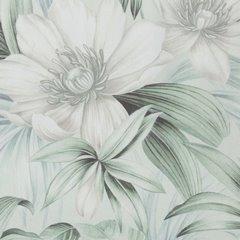 Zasłona welwetowa z roślinnym nadrukiem 140x250 cm przelotki - 140x250 - kremowy / zielony 3