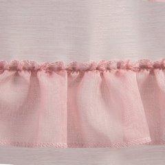Firana jednokolorowa drobny deszczyk 140x270  - 140 X 270 cm - różowy 4