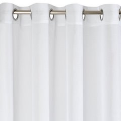 Gładka biała firana gotowa na przelotkach 140x250 cm - 140 X 250 cm - biały 6