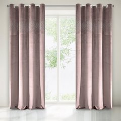 Zasłona welwetowa ciemno różowa z kryształkami 140x250 cm przelotki - 140x250 - różowy 1