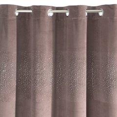 Zasłona welwetowa ciemno różowa z kryształkami 140x250 cm przelotki - 140x250 - różowy 5