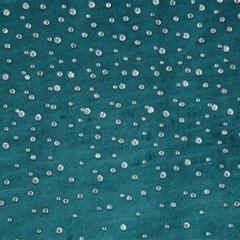 Zasłona welwetowa ciemno turkusowa z kryształkami 140x250 cm przelotki - 140x250 - turkusowy 3