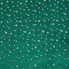 Zasłona welwetowa ciemno zielona z kryształkami 140x250 cm przelotki - 140 X 250 cm - zielony 4
