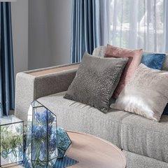 Poszewka dekoracyjna na poduszkę 45 x 45 kolor turkusowy - 45 X 45 cm - turkusowy 3