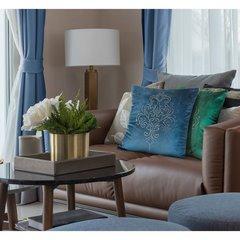 Poszewka na poduszkę 45 x 45 cm z pięknym ornamentowym wzorem z kryształków turkusowa - 45x45 - turkusowy 3