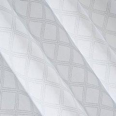 Firana gotowa na przelotkach 140 x 250 cm biało srebrna geometryczny wzór - 140 X 250 cm - biały 3