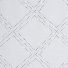 Firana gotowa na przelotkach 140 x 250 cm biało srebrna geometryczny wzór - 140 X 250 cm - biały 4