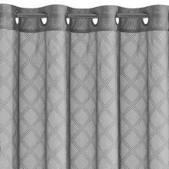 Firana gotowa na przelotkach 140 x 250 cm szaro srebrna geometryczny wzór  - 140x250 - szary 3