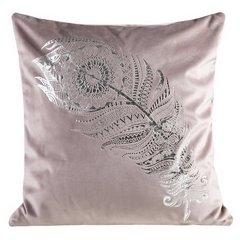 Poszewka dekoracyjna na poduszkę 45 x 45 kolor różowy - 45 X 45 cm - różowy 1