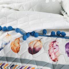 Narzuta łapacz snów modny styl boho żywe kolory 200x220cm - 200 X 220 cm - biały/mix kolorów 7