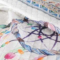 Narzuta łapacz snów modny styl boho żywe kolory 200x220cm - 200 X 220 cm - biały/mix kolorów 9