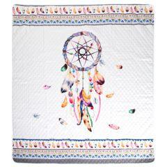 Narzuta łapacz snów modny styl boho żywe kolory 200x220cm - 200 X 220 cm - biały/mix kolorów 5