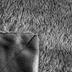 Stalowy koc futerkowy Tiffany ze srebrną nicią 150x200 cm Design91 - 150 X 200 cm - stalowy 6