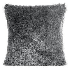 Poszewka z miękkiego futerka stalowy 40x40cm - 40 X 40 cm - stalowy/srebrny 1