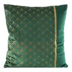 Poszewka dekoracyjna na poduszkę  45 x 45 Kolor Zielony/Złoty - 45x45 - zielony / złoty 1