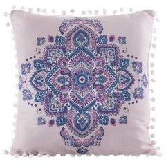 Poszewka na poduszkę orientalny wzór różowo niebieska 40 x 40 cm  - 40x40 - różowy / niebieski 1