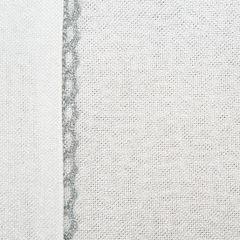 Biały bieżnik do jadalni ze srebrną koronką 40x140 cm - 40 X 140 cm - ecru/srebrny 3