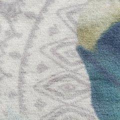 Piękny koc LACOTA w azteckie wzory BOHO 150x200cm - 150x200 - kremowy, srebrny, turkusowy 4