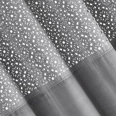 ZASŁONA WELWETOWA z ażurowym wzorem STALOWY 140x250 cm - 140x250 - szary 2