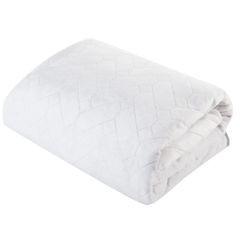 Narzuta welurowa dwustronna termozgrzewana biały+srebrny 220x240cm - 220x240 - biały / srebrny 5