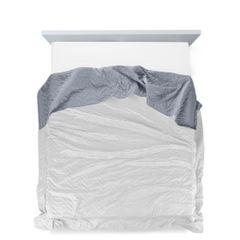 Narzuta welurowa dwustronna termozgrzewana biały+srebrny 220x240cm - 220 X 240 cm - biały/popielaty 4