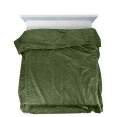 Narzuta welurowa dwustronna termozgrzewana oliwkowy 170x210cm - 170 X 210 cm - oliwkowy 5