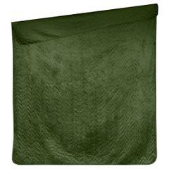 Narzuta welurowa dwustronna termozgrzewana oliwkowy 170x210cm - 170 X 210 cm - oliwkowy 6