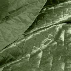 Narzuta welurowa dwustronna termozgrzewana oliwkowy 170x210cm - 70 X 160 cm - oliwkowy 7