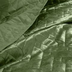 Narzuta welurowa dwustronna termozgrzewana oliwkowy 170x210cm - 70 X 160 cm - oliwkowy 4