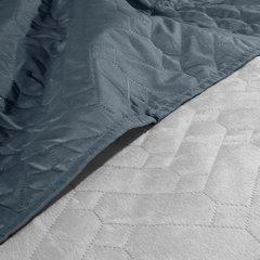 Narzuta welurowa dwustronna termozgrzewana stalowy+srebrny 220x240cm - 220 X 240 cm - popielaty/grafitowy 7