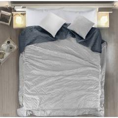 Narzuta welurowa dwustronna termozgrzewana stalowy+srebrny 220x240cm - 220 X 240 cm - popielaty/grafitowy 1