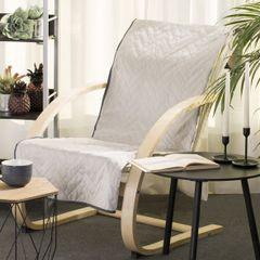 Narzuta welurowa dwustronna na fotel termozgrzewana stalowy+srebrny 70x160 cm - 70 X 160 cm - popielaty/grafitowy 1