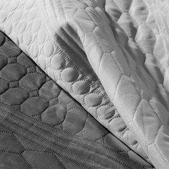 Narzuta dwustronna termozgrzewana stal+srebrny 200x220cm - 200 X 220 cm - jasnoszary/ciemnoszary 6