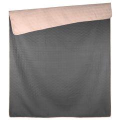 Narzuta dwustronna termozgrzewana stal+róż 200x220cm - 200 X 220 cm - ciemnoszary/różowy 5