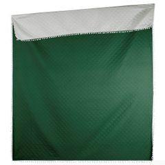 Narzuta zdobiona na brzegach pomponami termozgrzewana zielony 220x240cm - 220 X 240 cm - zielony 3