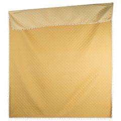 Narzuta zdobiona na brzegach pomponami termozgrzewana żółty 220x240cm - 220 X 240 cm - żółty 3