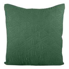 Poszewka pikowana wzór geometryczny termozgrzewana zielono-srebrna 40x40cm - 40 X 40 cm - zielony/popielaty 4